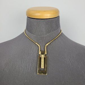 Vintage Panetta Gold Choker Necklace